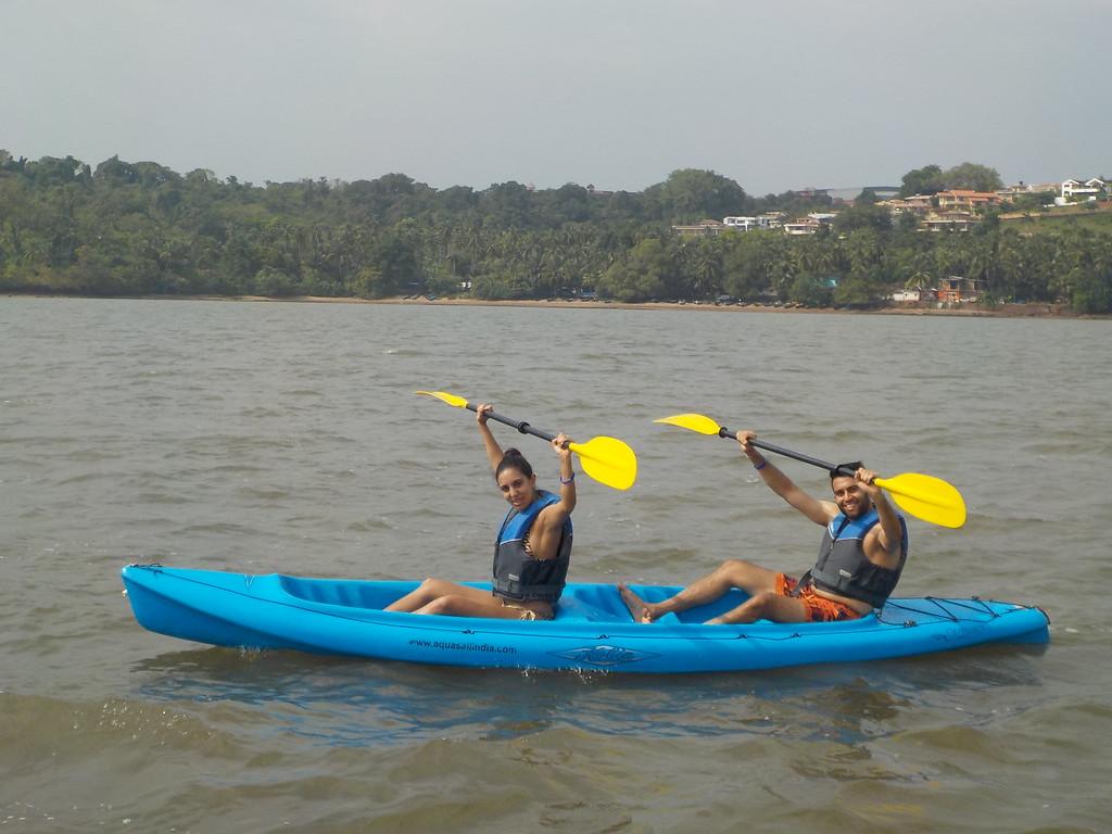 kayaking in goa